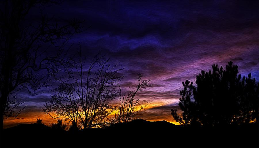 Night Sky Photograph - Night Paints The Sky by Nancy Marie Ricketts