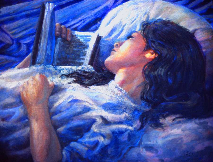 Figure Painting - Night Read by Dan Terry