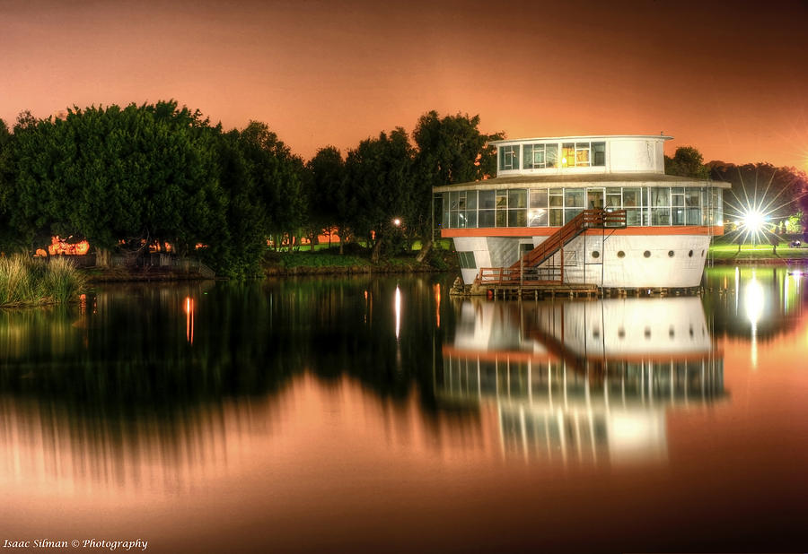 Ramat Gan Photograph - Night Reflaction by Isaac Silman