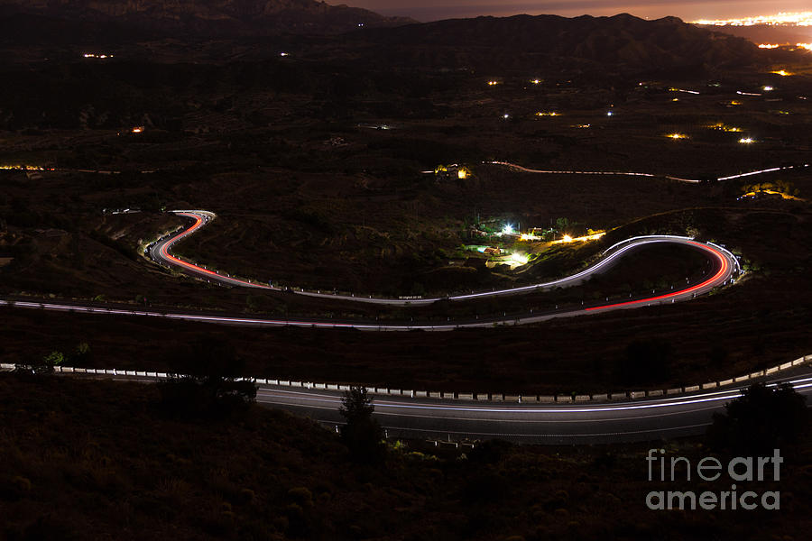 Night Road Photograph by Eugenio Moya