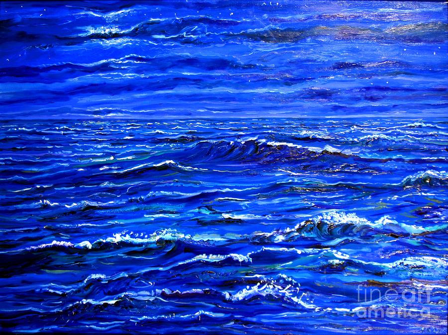 Sea Painting - Night Sea by Arthur Robins