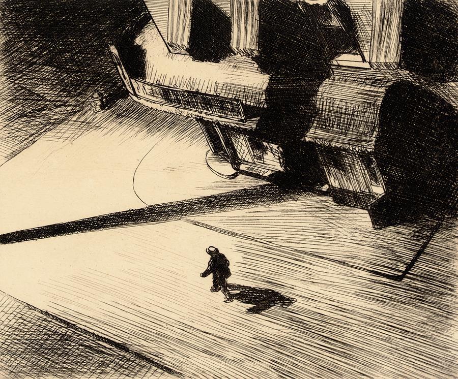 Night Shadows Painting - Night Shadows by Edward Hopper