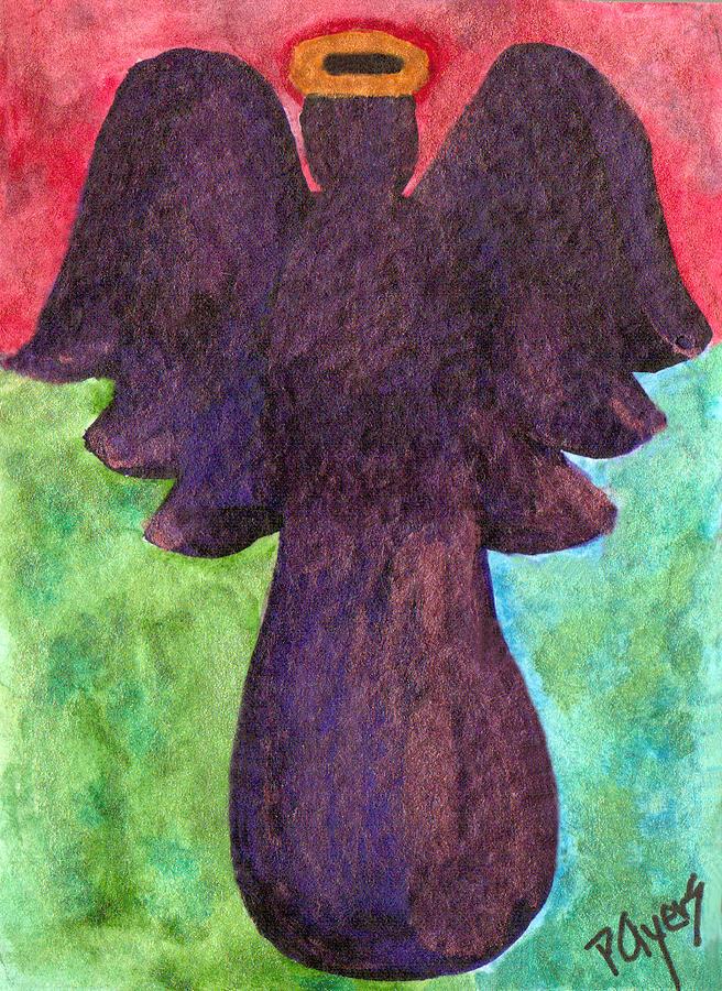 Watercolor Painting - Night Shift Angel by Paula Ayers