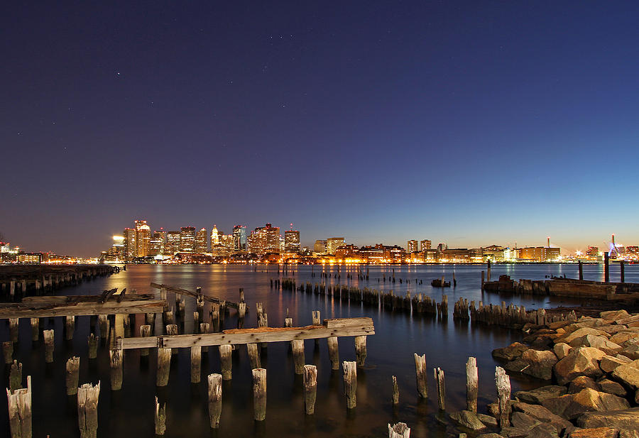 Boston Photograph - Night Sky Hunter Orion Over Boston  by Juergen Roth