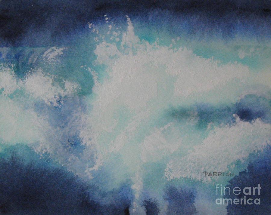 Seascape Painting - Night Splash by Parrish Hirasaki