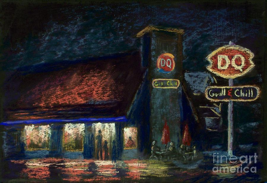 Landscape Pastel - Night Spot by Bruce Schrader