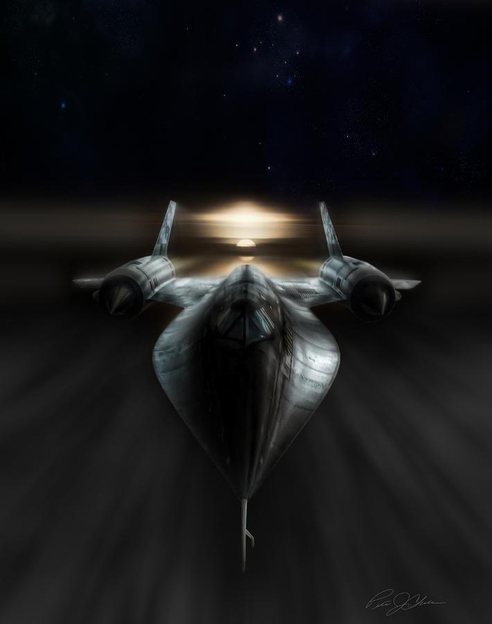 Sr-71 Digital Art - Night Stalker by Peter Chilelli