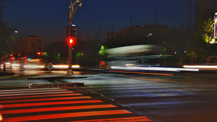 Boston Photograph - Night Streaks by Joann Vitali