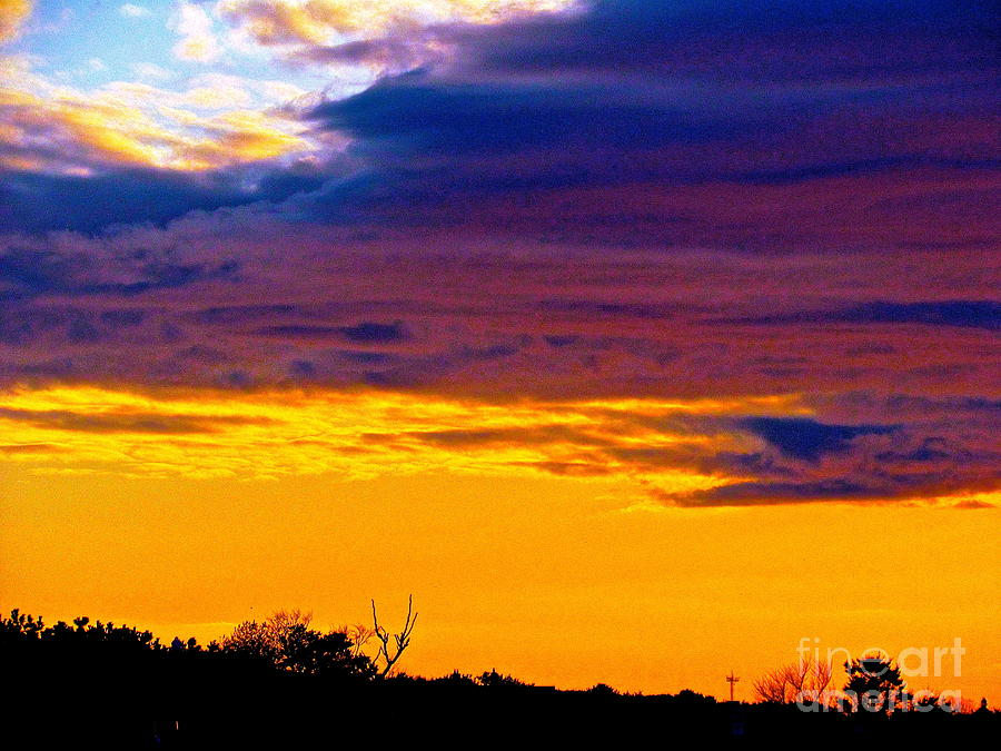 Sunsets Photograph - Night Thinks Of Day by Qs House of Art ArtandFinePhotography
