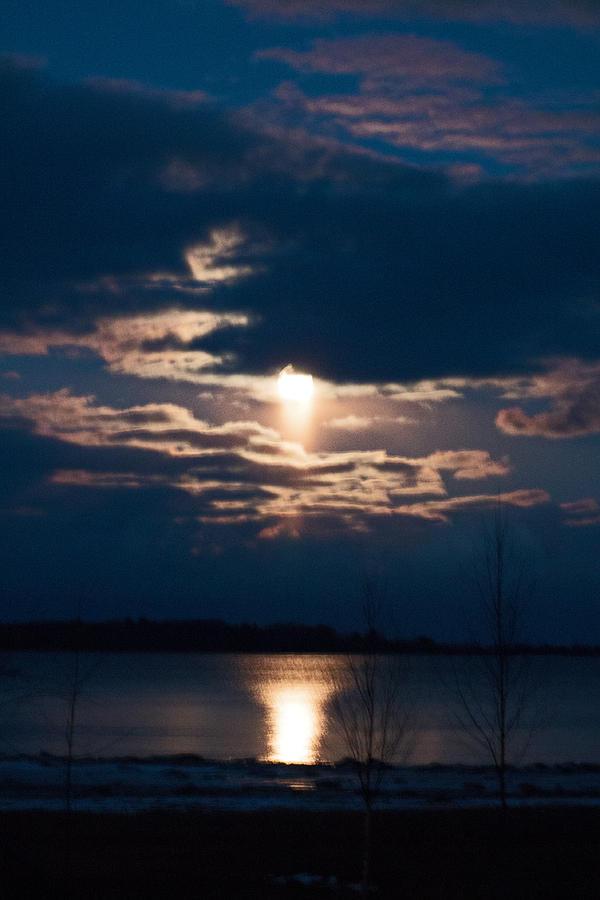Night Photograph - Night Time Reflection by Rhonda Humphreys