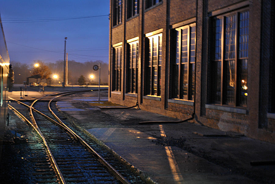 Southern Railway Photograph - Night Tracks by Misty Stach