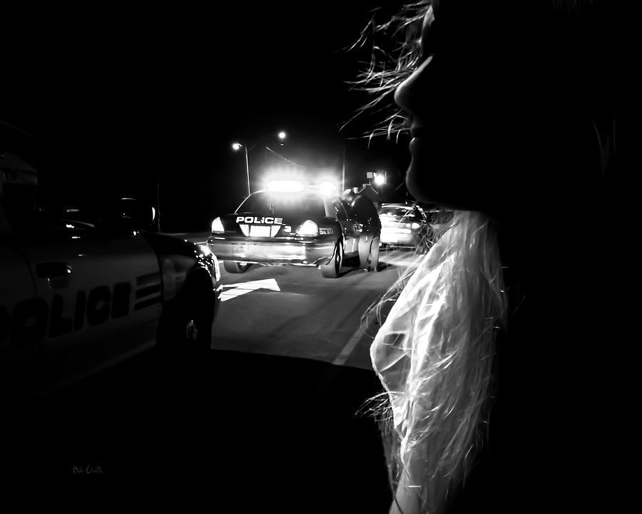 Police Photograph - Night Traffic Stop Three by Bob Orsillo