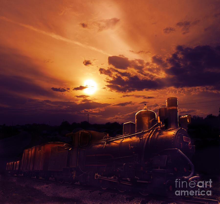 Train Photograph - Night Train by Jelena Jovanovic