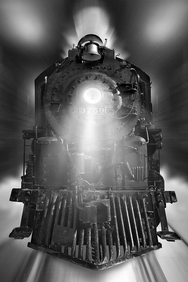 Transportation Photograph - Night Train On The Move by Mike McGlothlen