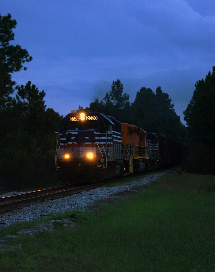 Train Photograph - Night Train by Paul  Wilford