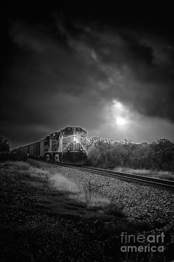 Train Photograph - Night Train by Robert Frederick