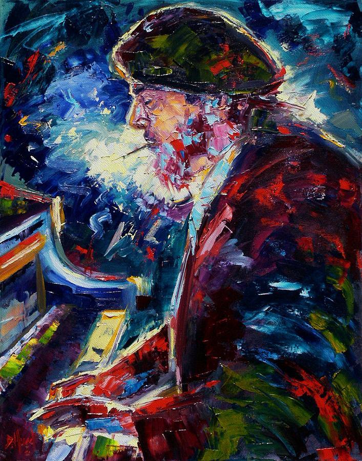 Blues Painting - Night Tripper by Debra Hurd