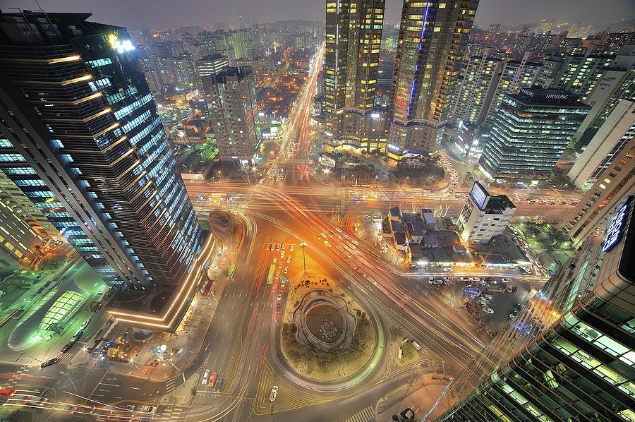 Night View Of Gongdeok, Mapo-gu, Seoul Photograph by Tokism
