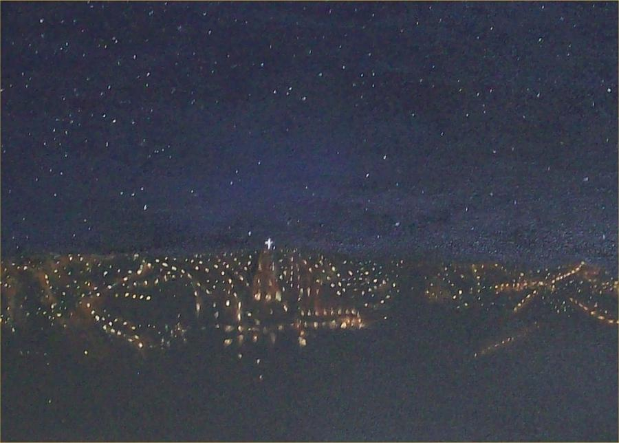 San Miguel Allende Painting - Night View of San Miguel by Irene Corey