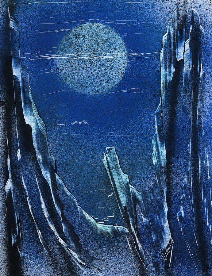 Moonlight Painting - Night Vision by Jason Girard