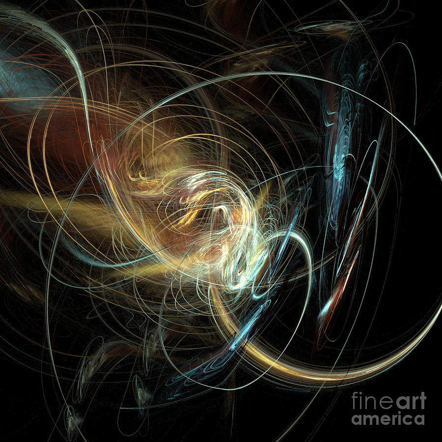 Light Digital Art - Night Whimsy by Sara  Raber