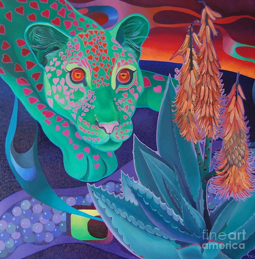 Magic Africa Painting - Night Wispers by Tatyana Binovska