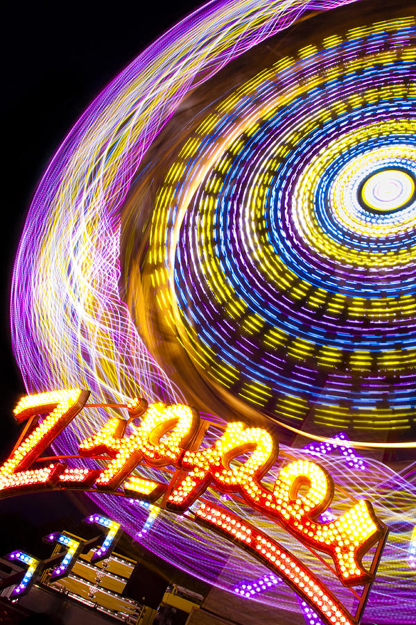 Ride Photograph - Night Zipper by Caitlyn  Grasso