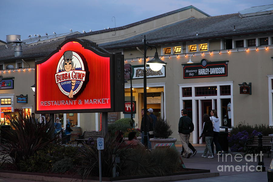 Nightfall At Bubba Gump Restaurant On Monterey Cannery Row California 5d25171