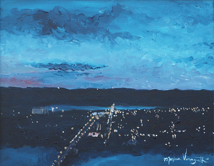 Painting Painting - Nightfall At Garvin by Monica Veraguth