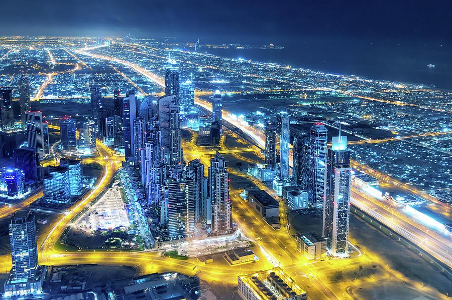 Nightlife In Dubai Photograph by Valentinrussanov