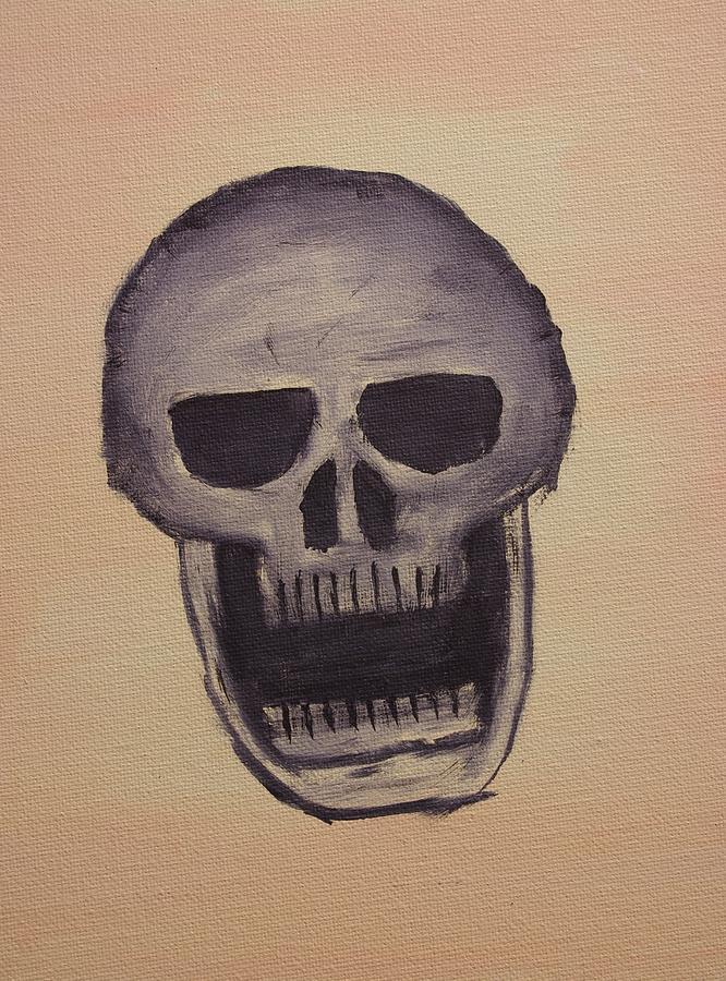 Skull Painting - Nightmare by Keith Nichols