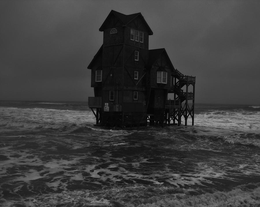 Lovely Nights In Rodanthe House On Beach Part - 14: Sunset Photograph - Nights In Rodanthe Movie Serendipity House By Mark  Lemmon