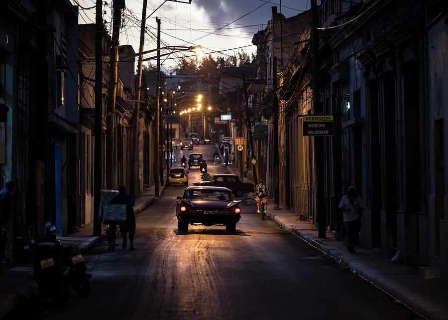 Matanzas Photograph - Nights Streets Of Matanzas by Marco Tagliarino