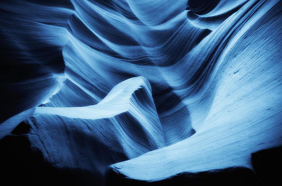 Antelope Canyon Photograph - Nightswimming by Roger Chenery