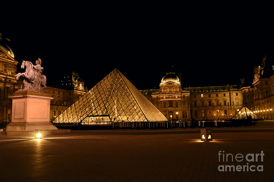 Nighttime at Musee du Louvre by Scott D Welch