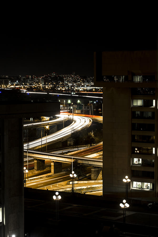 Nighttime Commute Photograph - Nighttime Commute  by Andrew Pacheco