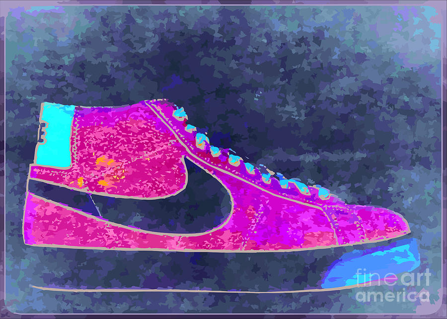 Nike Digital Art - Nike Blazer 2 by Alfie Borg