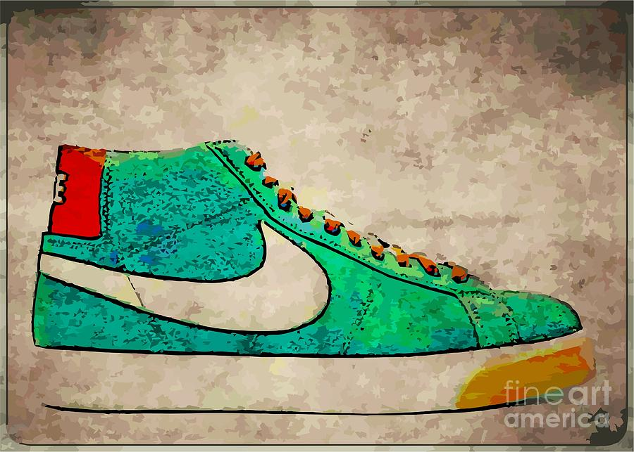 Nike Digital Art - Nike Blazers by Alfie Borg