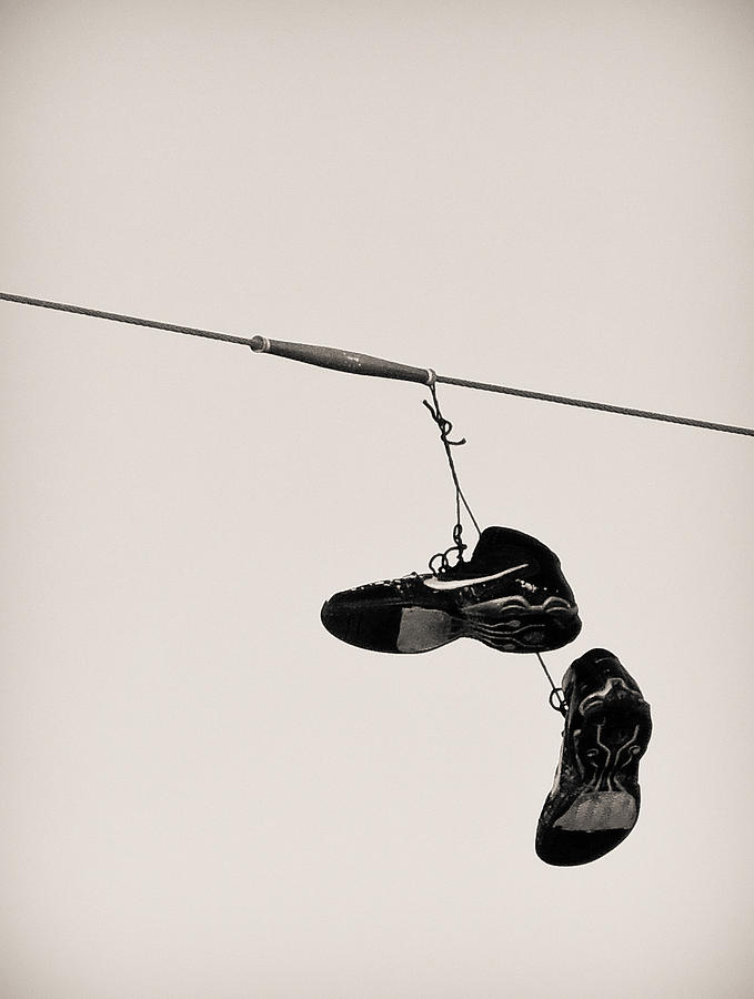 Shoes Photograph - Nikes by Tracy Salava