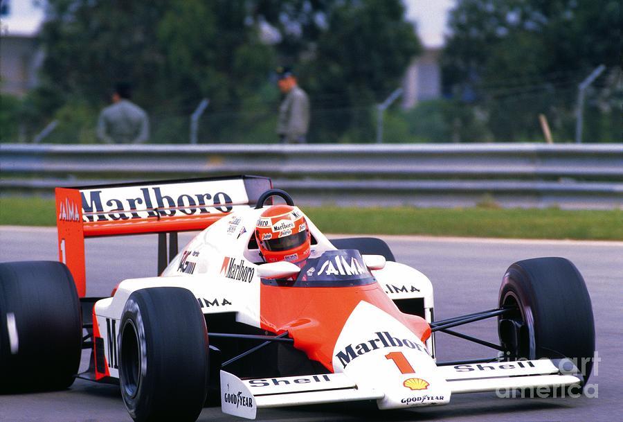Niki Lauda 1985 Portuguese Grand Prix Photograph By Oleg