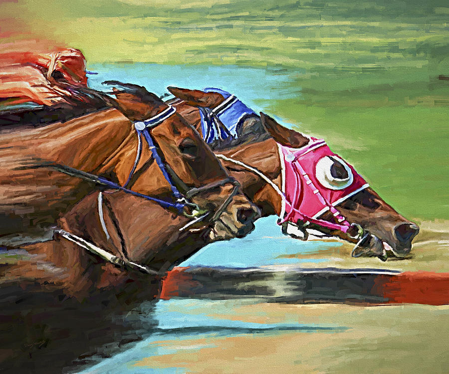 Horses Painting - Nikita By A Head by David Wagner