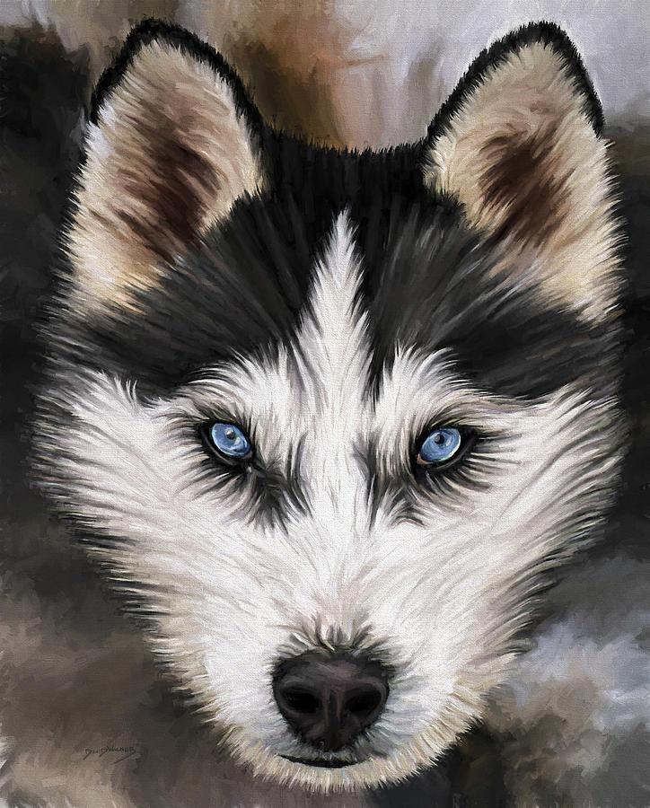 Dog Art Painting - Nikki by David Wagner