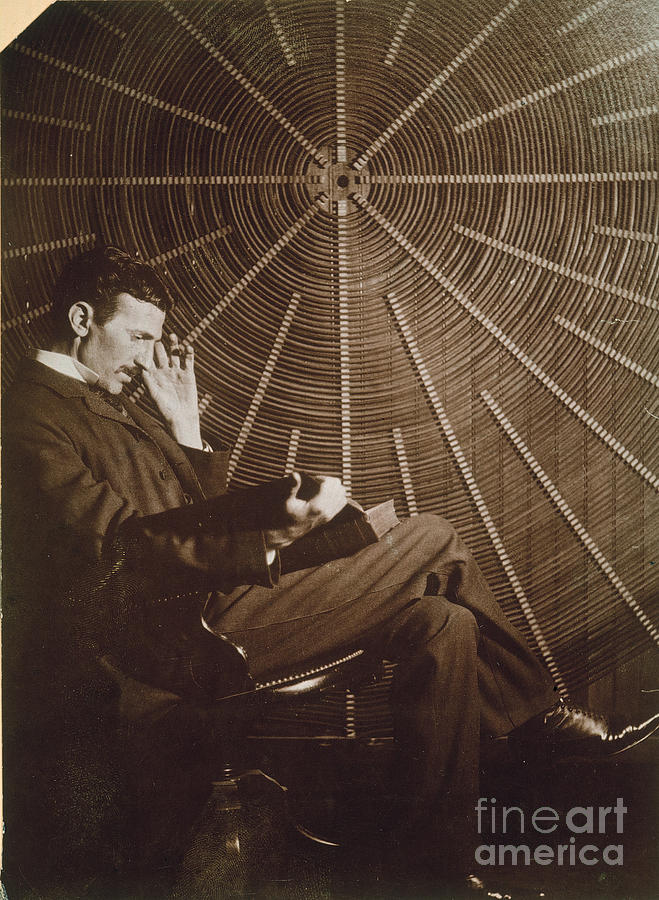 1895 Photograph - Nikola Tesla by Granger