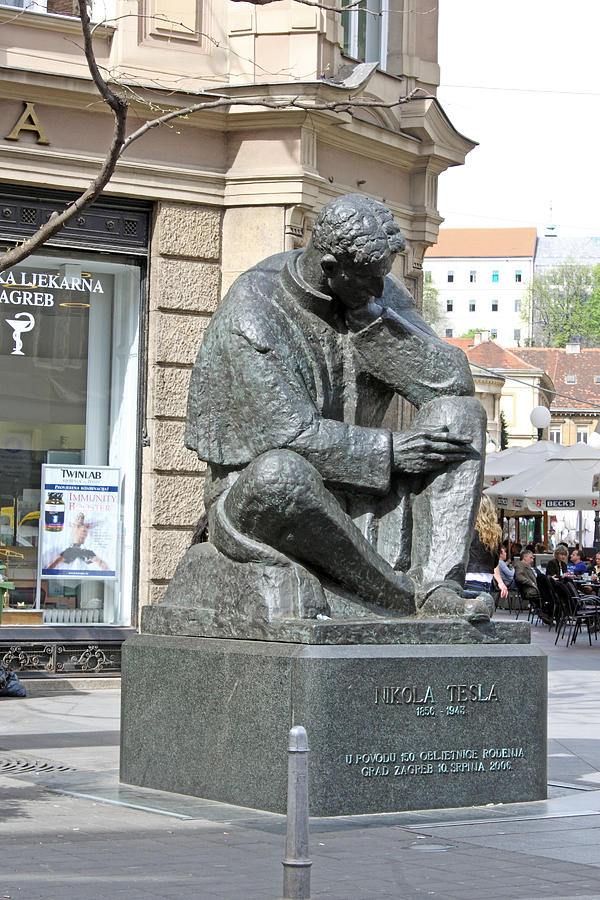 Croatia Photograph - Nikola Tesla Sculpture In Zagreb by Borislav Marinic