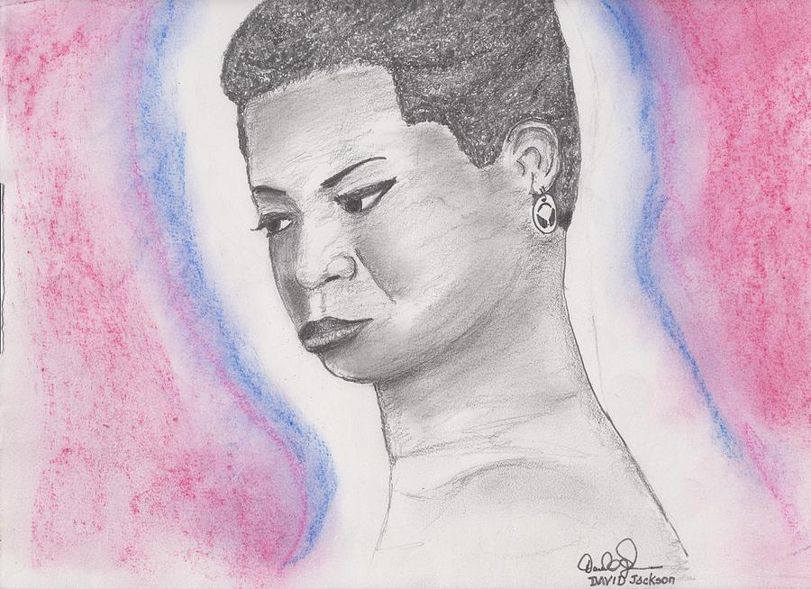 Nina Simone Drawing - Nina Simone by David Jackson