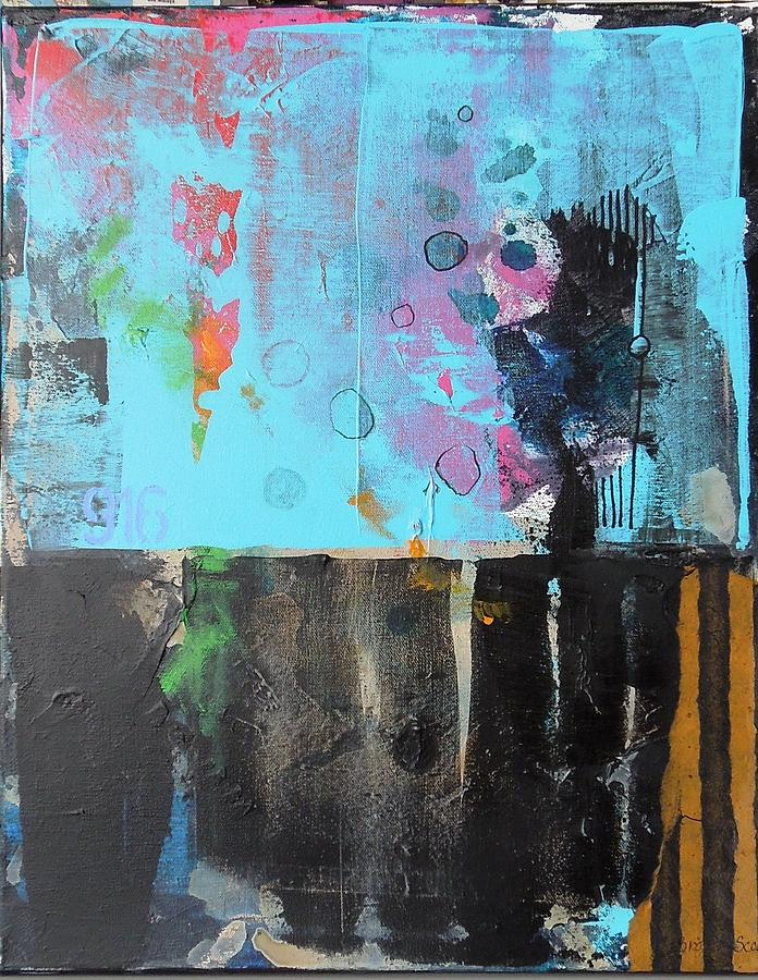 16x20 Mixed Media - Nine One Six by Jo Ann Brown-Scott