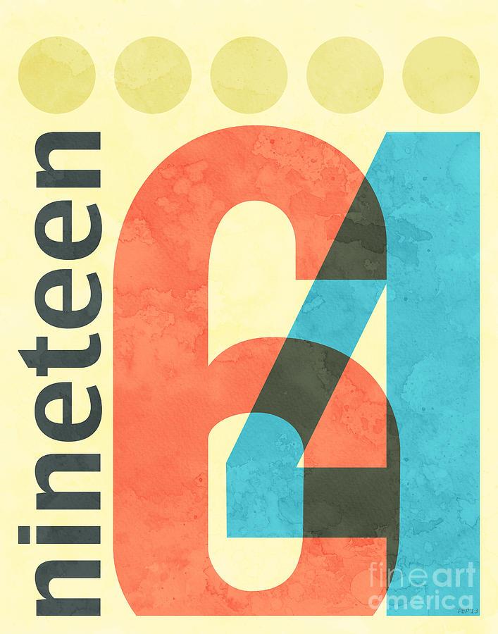 1964 Digital Art - Nineteen 64 by Phil Perkins