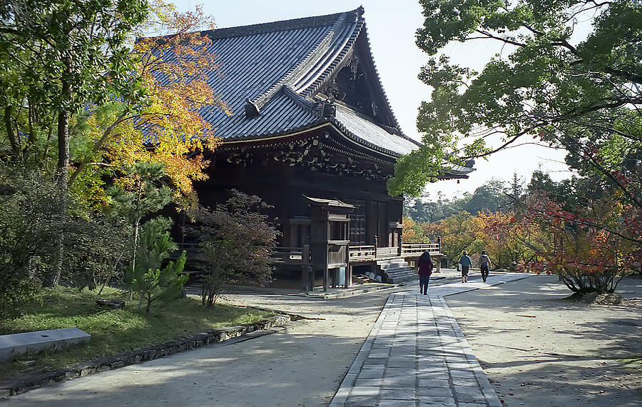 Japan Photograph - Ninna-ji Temple Compound - Kyoto Japan by Daniel Hagerman