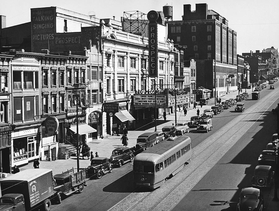 1930's Photograph - Ninth Street In Brooklyn by Underwood Archives