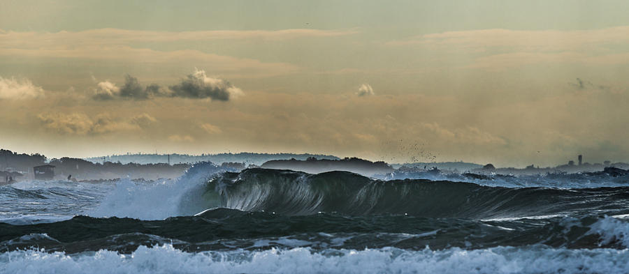 Horizon Photograph - Ninth Wave Mediterranean by Michael Goyberg
